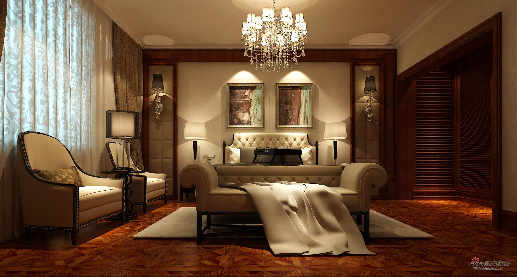 欧式 三居 卧室图片来自用户2746948411在欧式古典139平清晰简明3居室27的分享