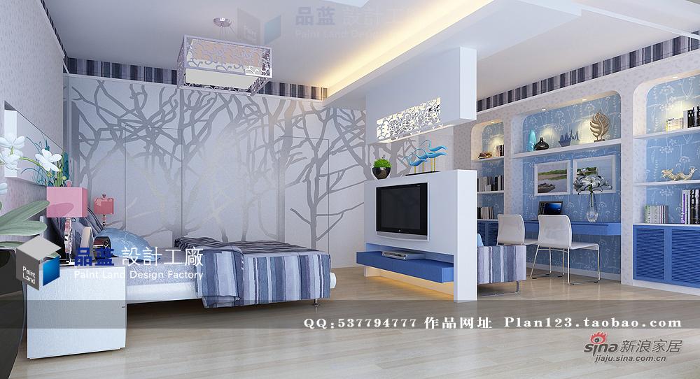 田园 四居 卧室图片来自用户2557006183在《蓝色恋人》--155平米样板房68的分享