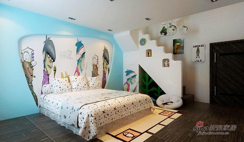 简约 四居 儿童房图片来自用户2738845145在看140㎡格林创意空间 巧夺天工12的分享