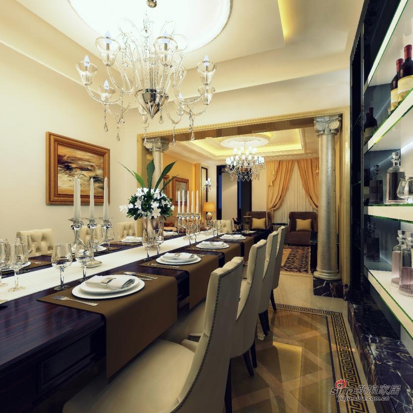 新古典 三居 餐厅图片来自用户1907664341在全包8万元打造 龙湾城澜庭 170平 三居14的分享