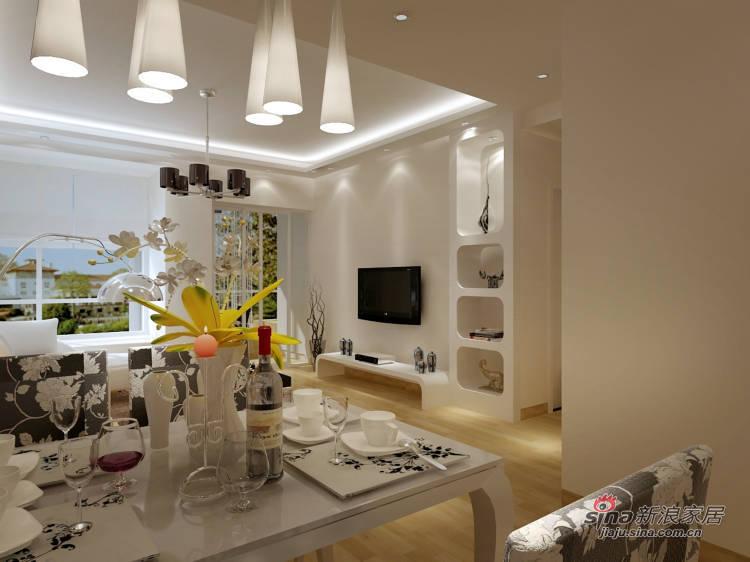 简约 二居 客厅图片来自用户2739153147在6.5万超值装85平简约2居84的分享