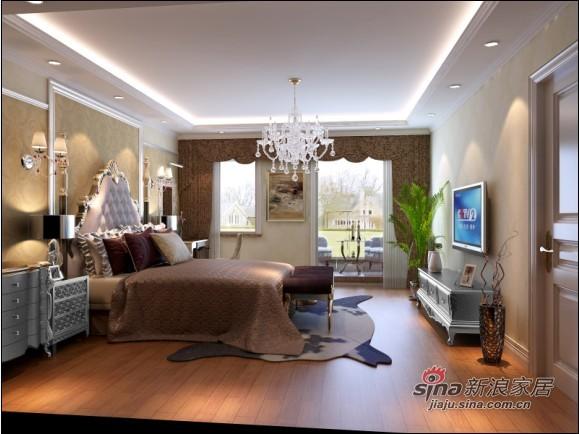 欧式 三居 卧室图片来自用户2757317061在新婚夫妇10万装190平简欧大平层82的分享