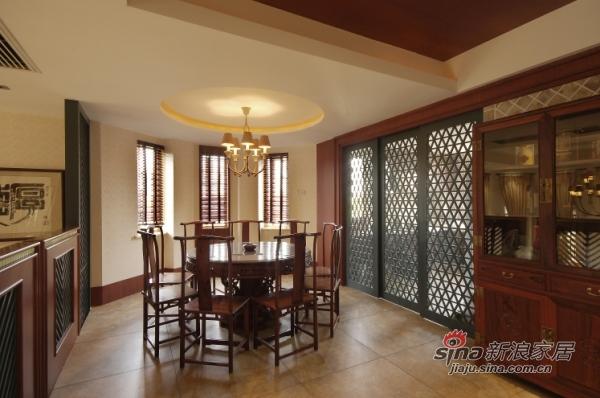 中式 别墅 餐厅图片来自用户1907662981在320平古韵悠远中式风格别墅35的分享