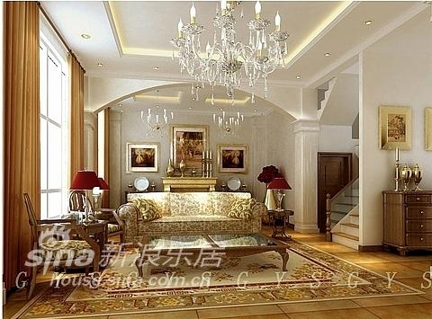 欧式 复式 客厅图片来自用户2746889121在简约欧式23的分享