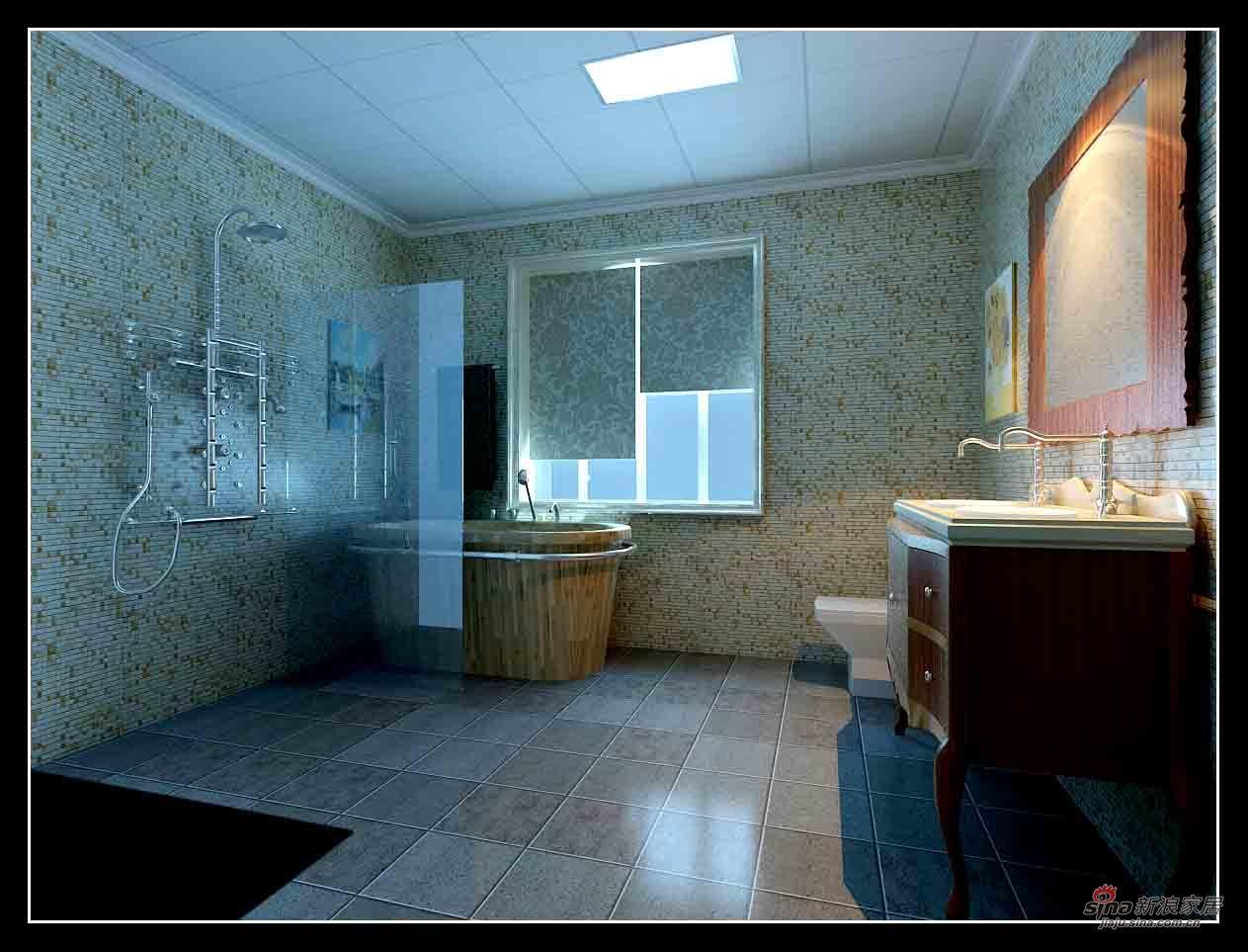 欧式 别墅 卫生间图片来自用户2746889121在保利英格兰堡别墅65的分享
