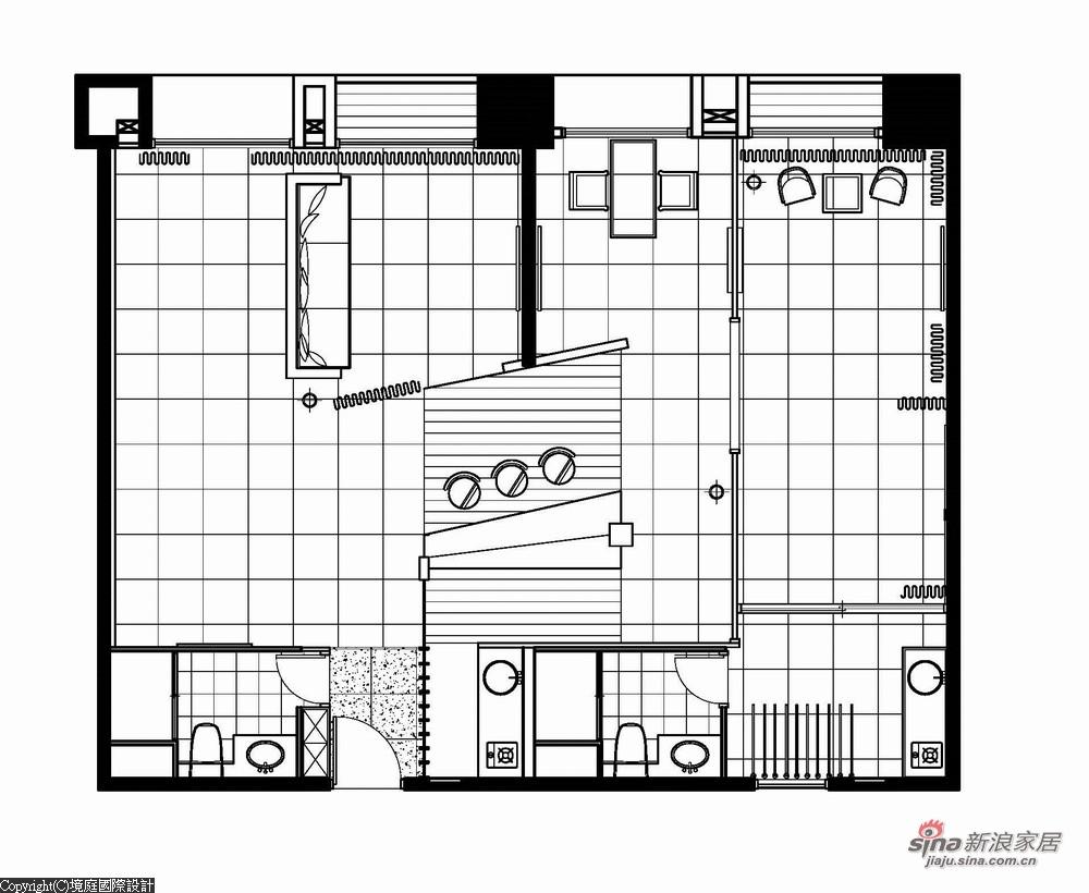 新古典 三居 户型图图片来自幸福空间在【高清】165平诠释新古典居家对称线条13的分享