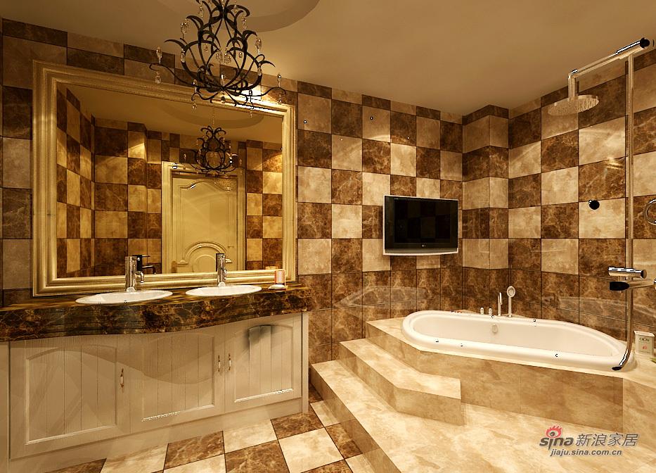 欧式 三居 卫生间图片来自用户2746869241在皇城东苑华丽欧装69的分享