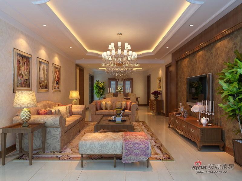 欧式 三居 客厅图片来自用户2746869241在10万演绎175平稳重大气古典欧式风情54的分享
