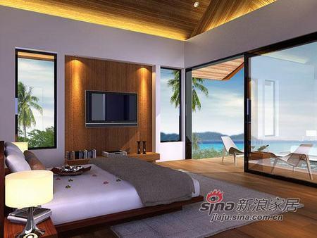 简约 一居 客厅图片来自用户2738820801在10款最有情调的海景卧室样板间89的分享