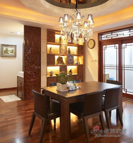 中式 三居 餐厅图片来自用户1907658205在【高清】9万营造107平新中式儒雅居29的分享