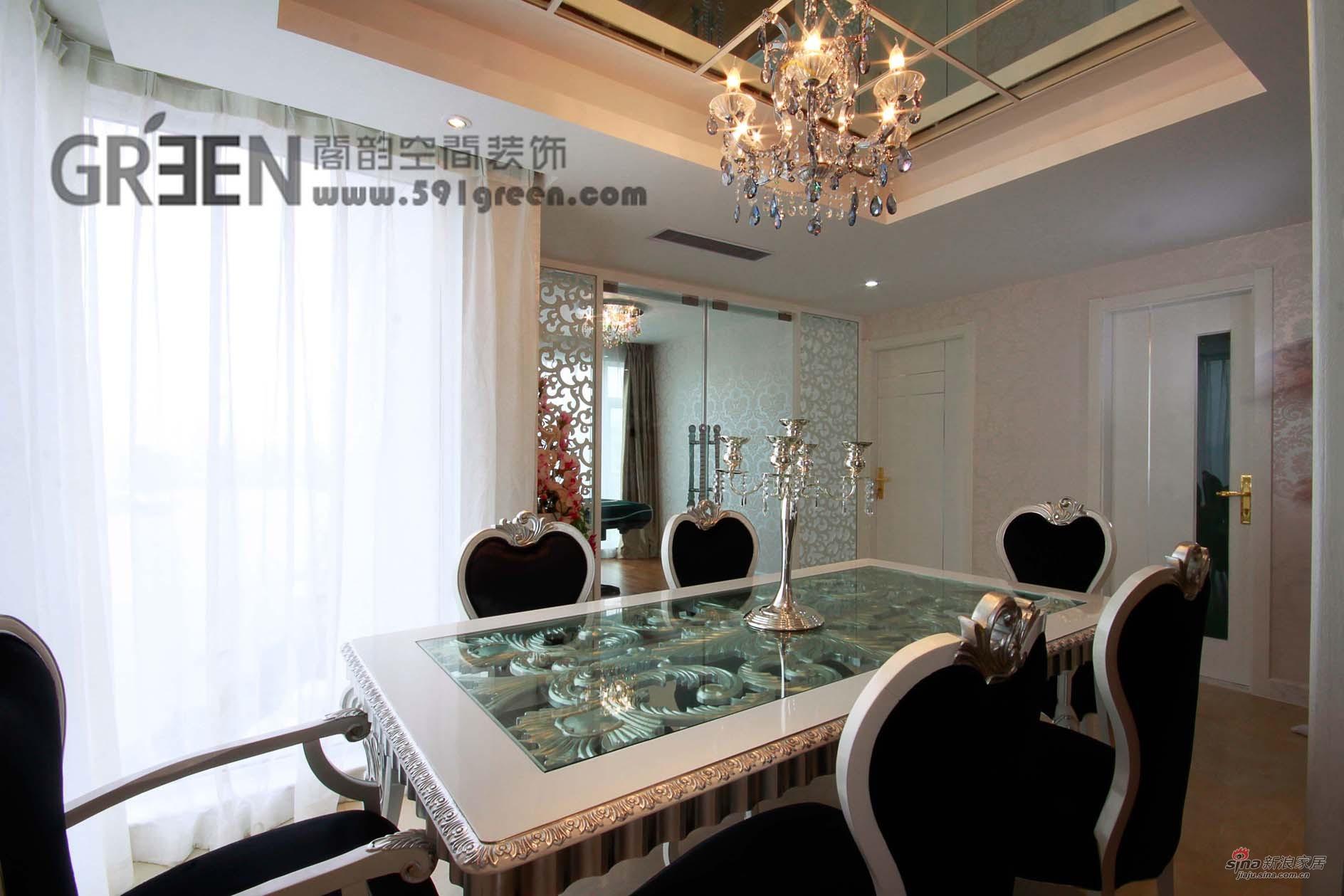 欧式 三居 餐厅图片来自阁韵空间装饰在新外滩花苑29的分享