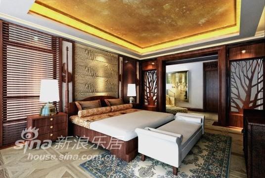 中式 别墅 卧室图片来自用户2757926655在江南华府73的分享