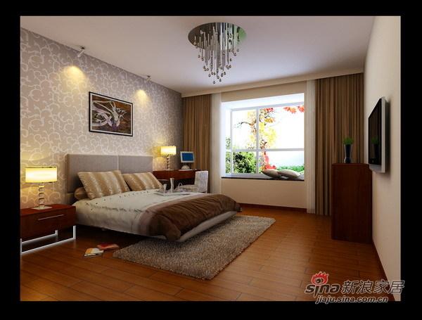 简约 二居 卧室图片来自用户2738093703在紫金80平米爱的蜗居77的分享