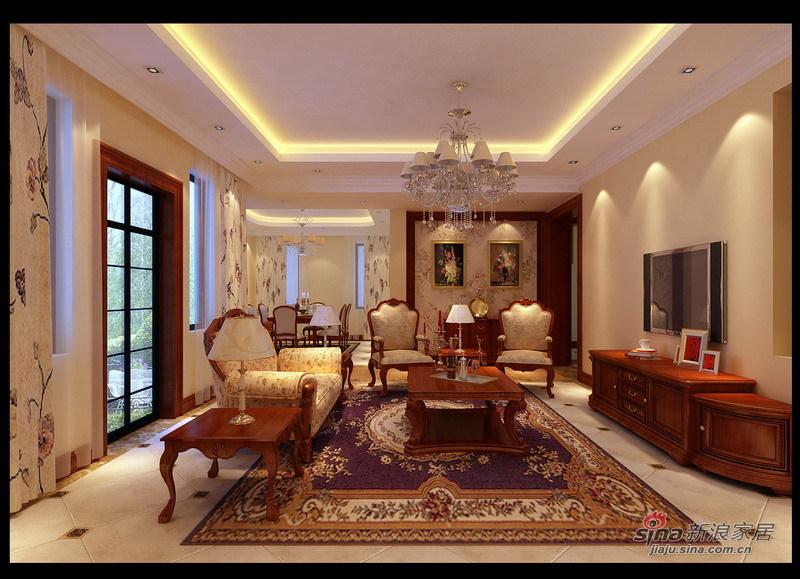 欧式 别墅 客厅图片来自用户2745758987在孔雀城227平现代欧式风格别墅设计22的分享