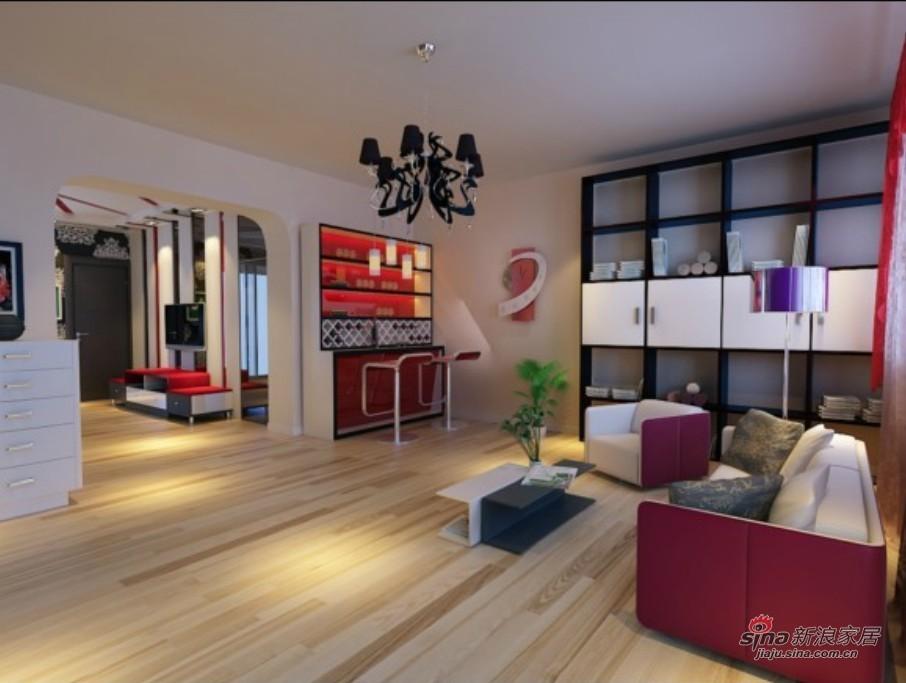 简约 三居 客厅图片来自用户2737759857在6.3万搞定108平简约时尚潮流三居室57的分享