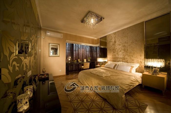 现代 三居 卧室图片来自城市人家犀犀在160平雅致主义23的分享