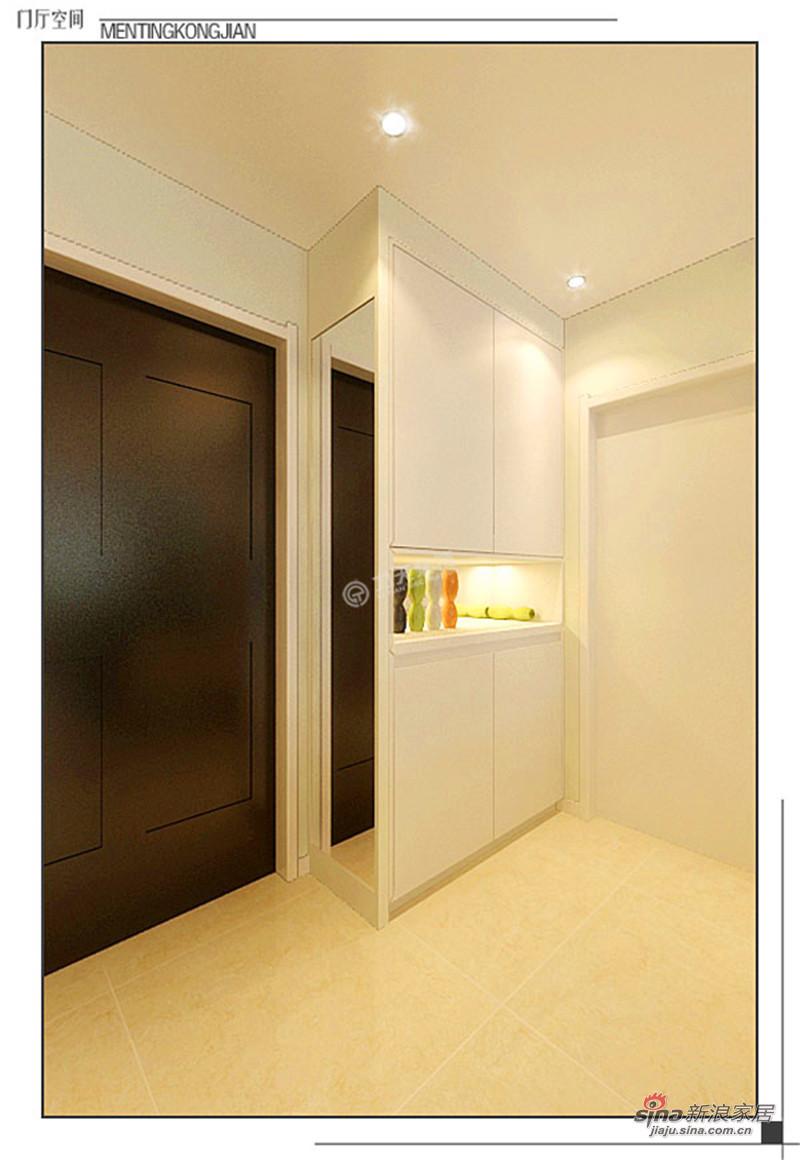 简约 二居 玄关图片来自用户2559456651在金地紫云庭110平米-两室两厅-现代简约35的分享