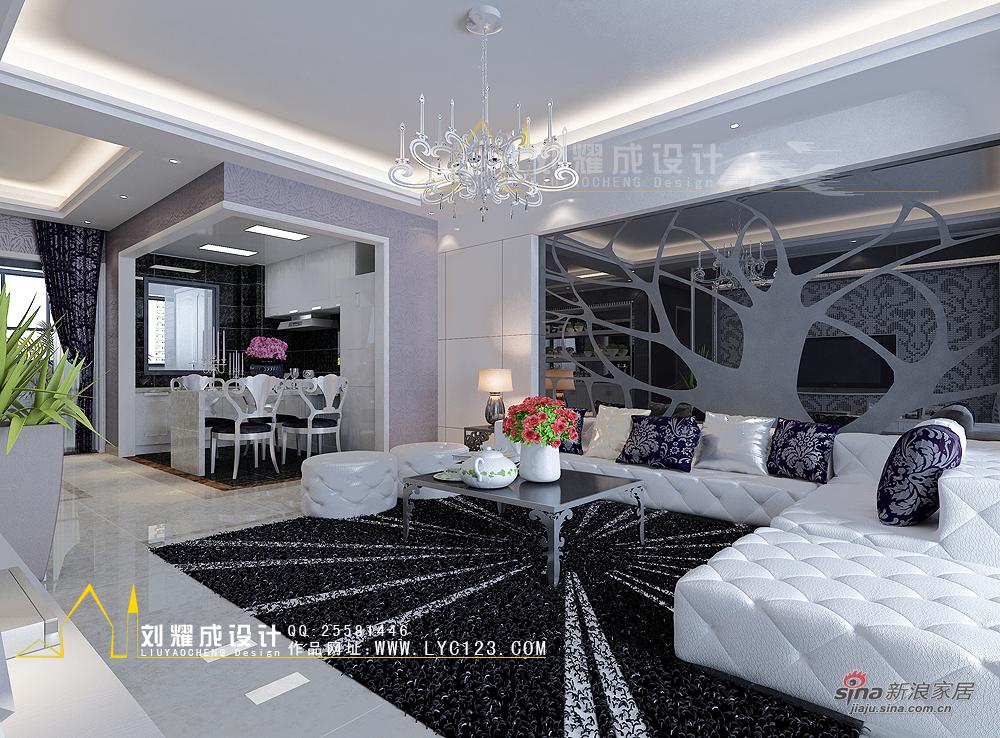 简约 三居 客厅图片来自用户2737735823在破茧成蝶——130平现代简约风格美家24的分享