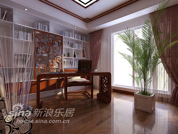 中式 三居 书房图片来自用户2757926655在金隅万科 新中式风格96的分享