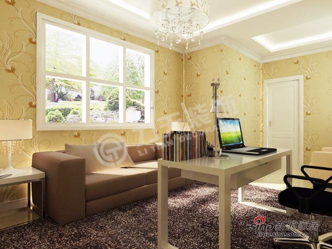 简约 别墅 书房图片来自阳光力天装饰在宝安江南城别墅A户型478.88㎡现代简约44的分享