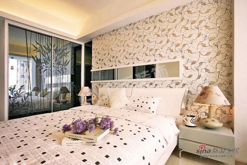 简约 三居 卧室图片来自阳光力天装饰在中铁国际城-3室2厅1卫-现代简约75的分享
