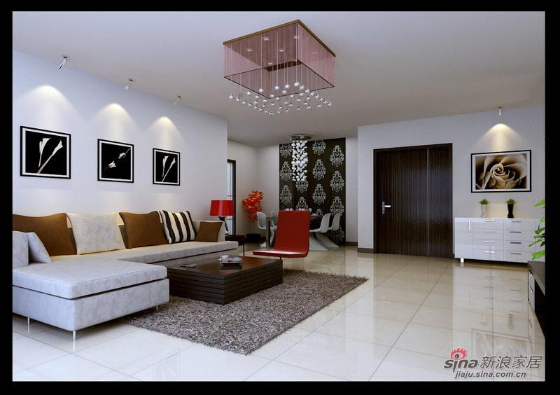 简约 三居 客厅图片来自用户2739081033在手绘+现代主义110平新居31的分享