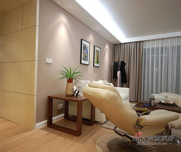 简约 三居 客厅图片来自佰辰生活装饰在简约时尚120平摩登3居室家84的分享