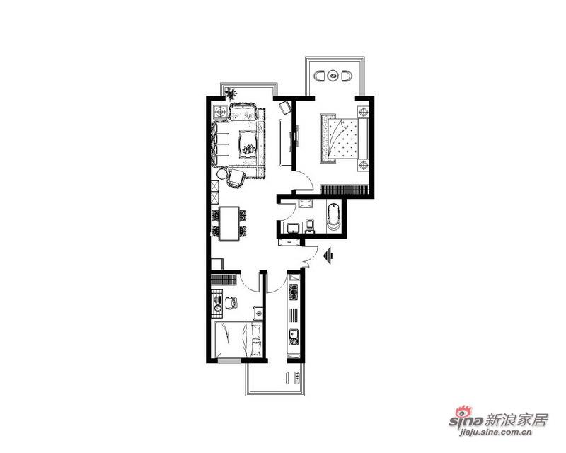 欧式 二居 客厅图片来自用户2746869241在韩式田园74的分享