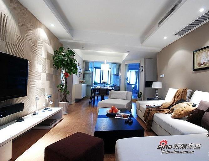 简约 二居 客厅图片来自用户2739081033在装修达人86平米清爽雅居 简约家居高档享受15的分享