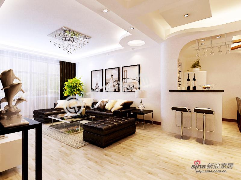 简约 三居 客厅图片来自阳光力天装饰在和平时光 -3室2厅1厨1卫-现代简约55的分享