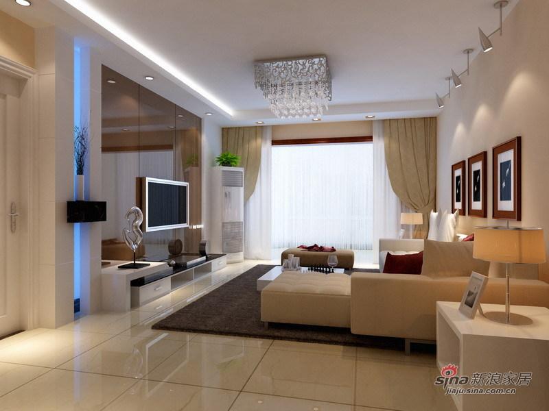 简约 二居 客厅图片来自用户2739081033在130平二手房翻新 打造现代简约实用家46的分享