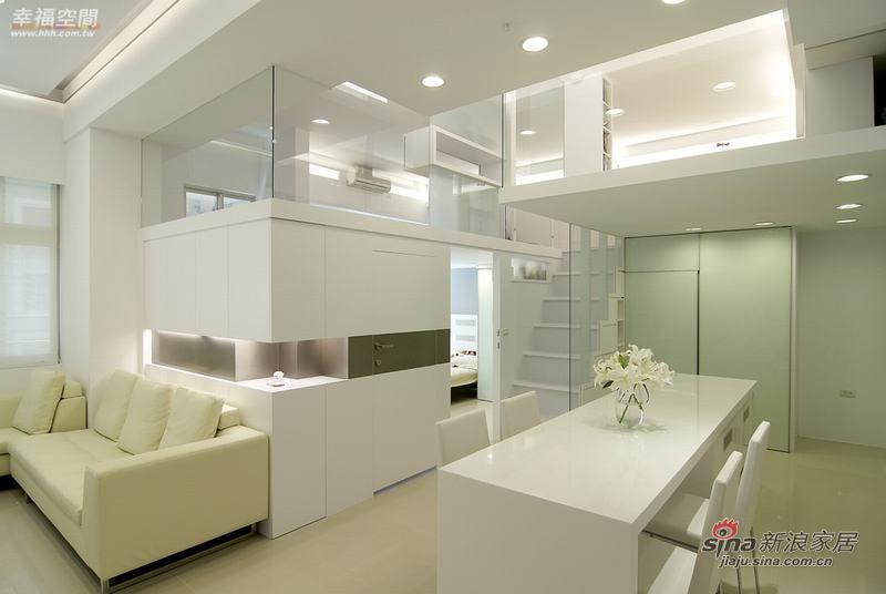 北欧 复式 客厅图片来自幸福空间在80平现代北欧风格4口之家68的分享