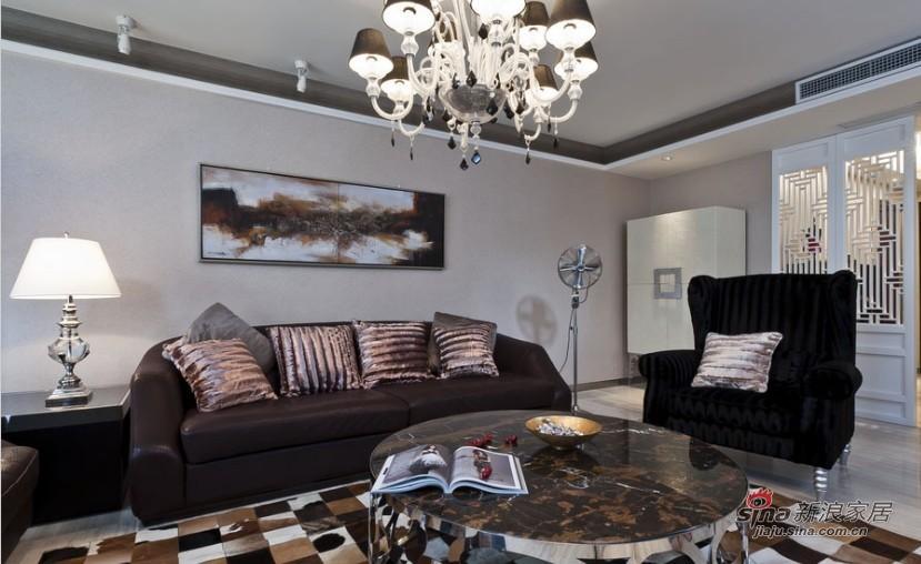 新古典 三居 客厅 高富帅图片来自家装大管家在【高清】9万装102平新古典时尚居27的分享