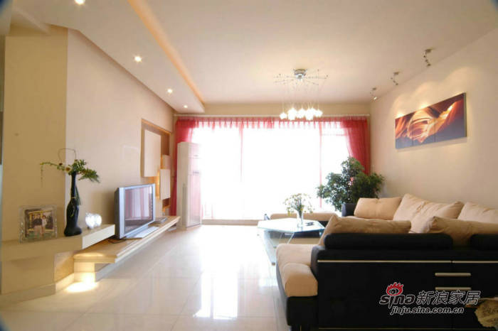 简约 二居 客厅图片来自用户2737786973在96㎡明快线条清新家60的分享
