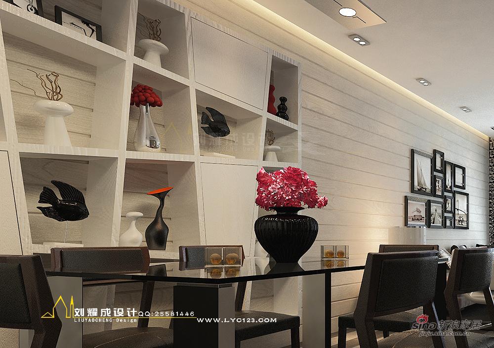 欧式 三居 餐厅图片来自用户2746948411在【高清】暂别色彩的时光135平米33的分享