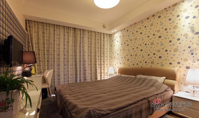 简约 四居 卧室图片来自装修微日记在【高清】8万装132平低调奢华简约4居66的分享