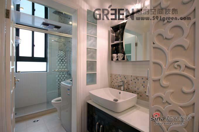 欧式 二居 卫生间图片来自阁韵空间装饰在紫色馨香38的分享