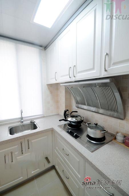 田园 一居 厨房图片来自装修微日记在【高清】单身女37平清新田园一居室34的分享