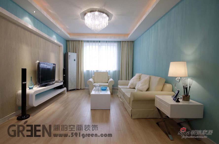 简约 二居 客厅图片来自阁韵空间装饰在北欧爱琴海44的分享