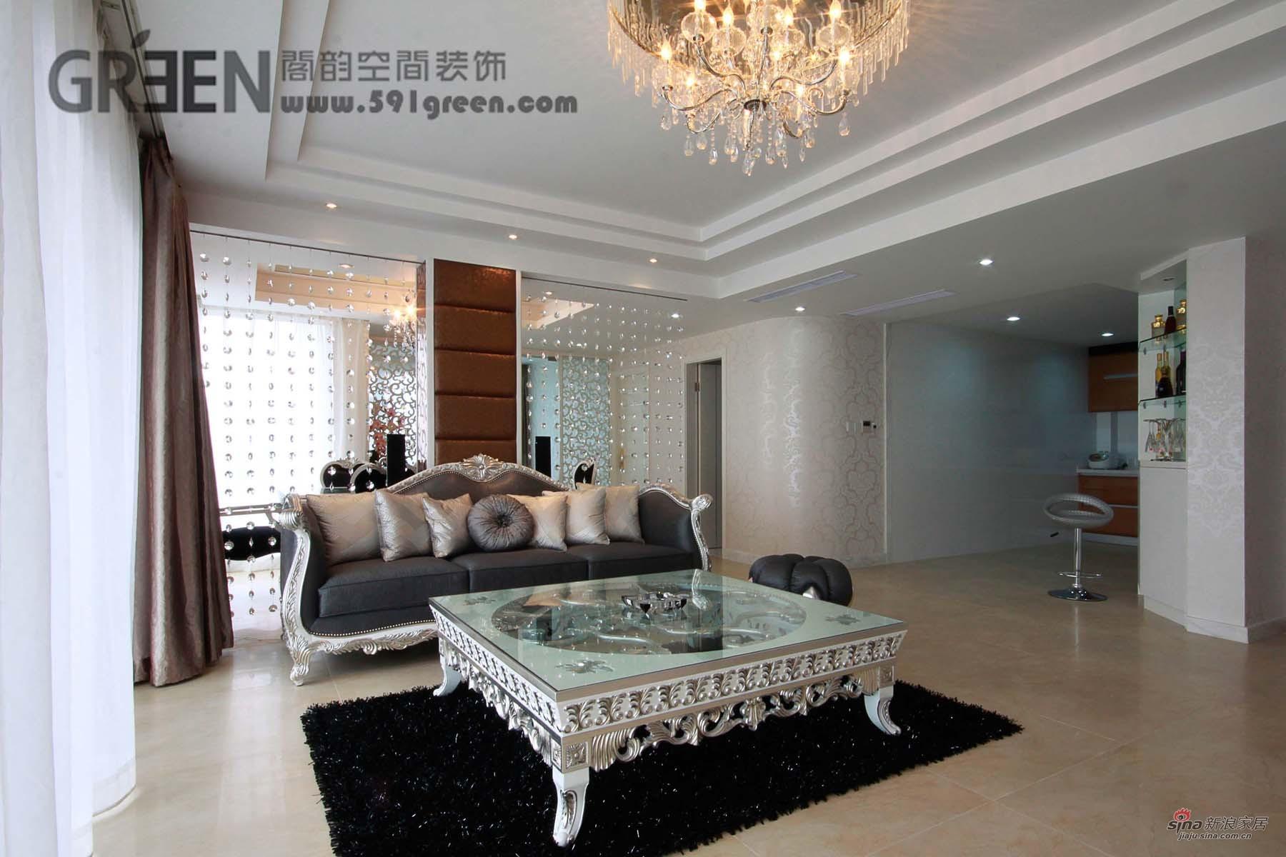 欧式 三居 客厅图片来自阁韵空间装饰在新外滩花苑29的分享