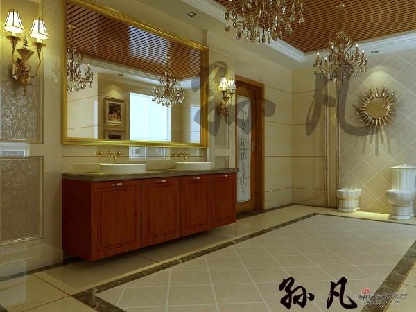 元洲装饰鲁能七号院三层卫生间效果图