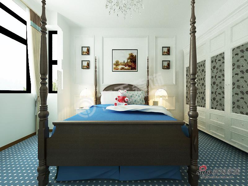 地中海 四居 卧室图片来自阳光力天装饰在4室2厅地中海风格家居84的分享