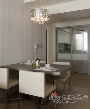简约 二居 餐厅图片来自用户2559456651在9万让92.4平方米房子亮丽变身90的分享