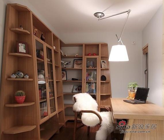 简约 三居 书房图片来自用户2737759857在时尚潮流98平演绎二居室美家74的分享