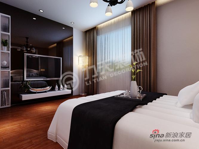 简约 二居 卧室图片来自阳光力天装饰在福晟钱隆城114平米现代简约55的分享