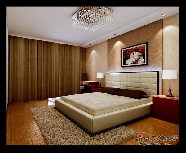 简约 三居 卧室图片来自用户2737759857在140平沉稳大气三居装修仅花6.5万62的分享