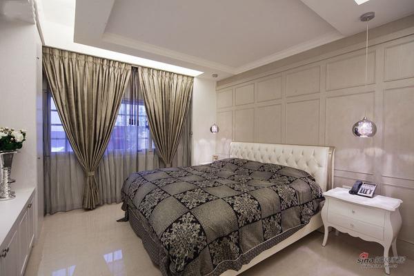 新古典 三居 卧室图片来自用户1907701233在7.1万打造120都市雅典轻古典家居20的分享