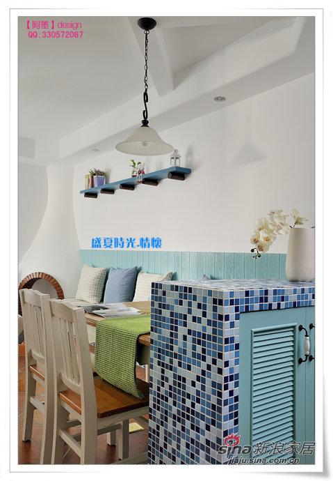 地中海 三居 餐厅图片来自用户2757320995在90平盛夏时光地中海风淡蓝爱家89的分享