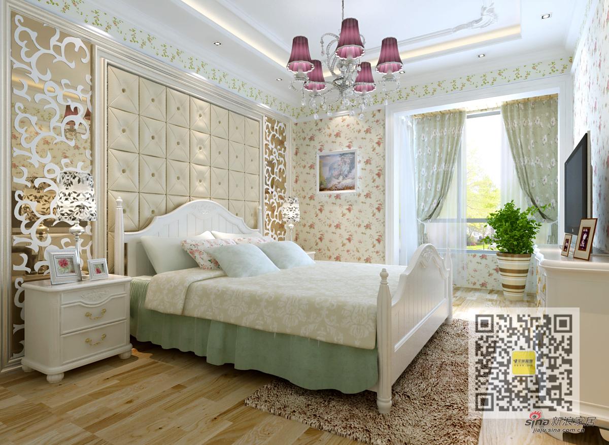 田园 二居 卧室图片来自用户2737946093在欧式田园风格两居室10的分享