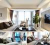 客厅中大量的白色形成了空间的基本色调